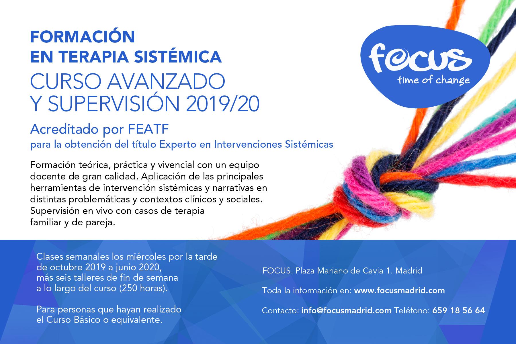 Curso Avanzado y Supervisión 2019-20 acreditado por FEATF