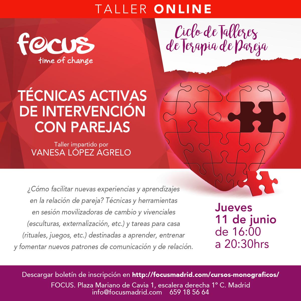 Técnicas activas de intervención con Parejas - Vanesa López Agrelo