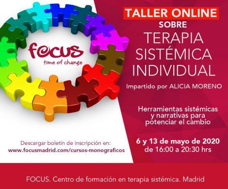 Taller sobre Terapia Sistémica Individual. 6 y 13 de mayo 2020